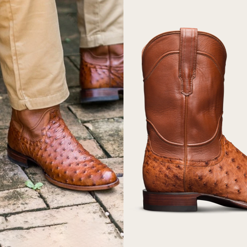 Men's Vintage Leather Exotic Roper Boots