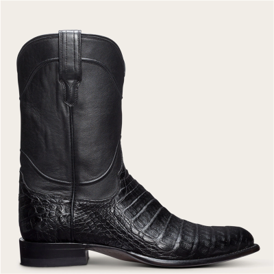 Men's Vintage Leather Shorter Heel Simpler Boots
