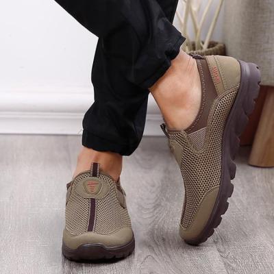 Large Size Men Mesh Breathable Soft Slip On Running Walking Shoes