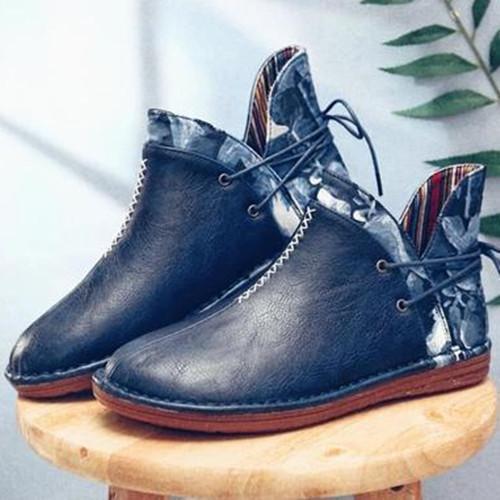 Women Flat Heel Snow Boots