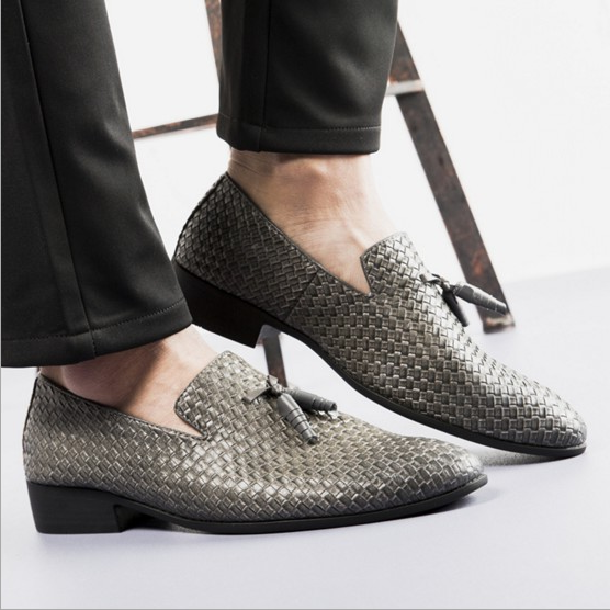 Men British Business PU Wedding Shoes