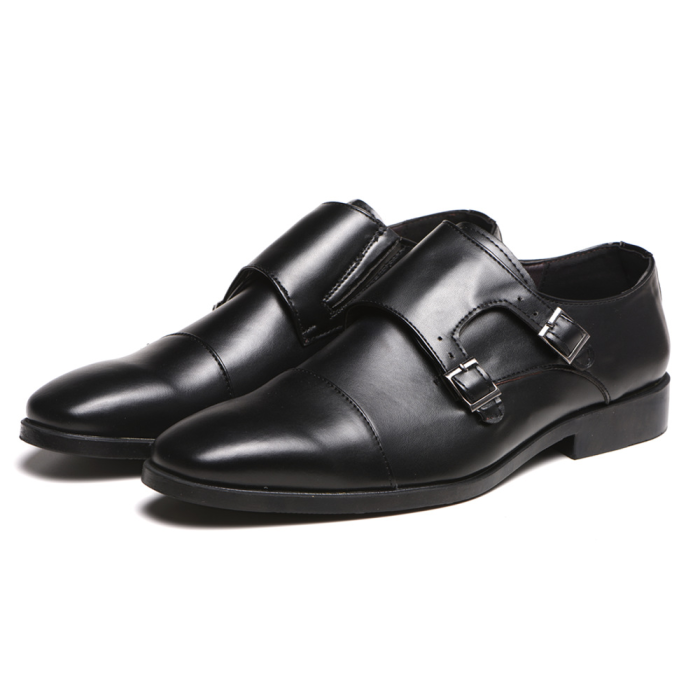 Fashion Men's Brogue Buckle Party Formal Small Square Toe Shoes