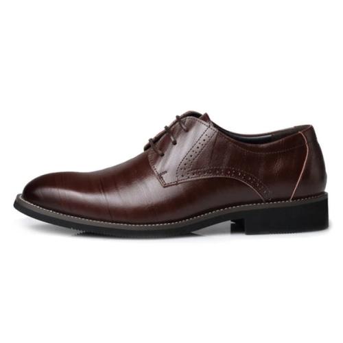 Men's Vintage Homemade Genuine PU Leather Brogue Business Flats Shoe