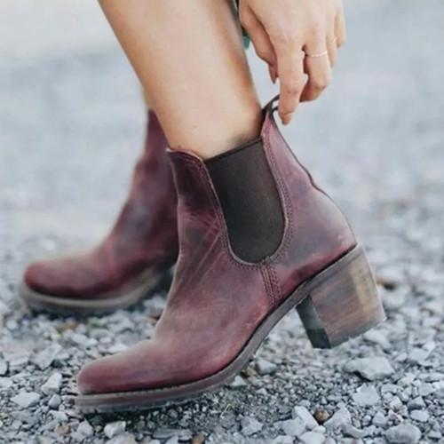 Women Med Calf Ankle Boots