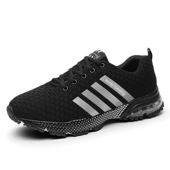 Men's Mesh Sports Fashion Shoes Comfy Breathable Lacing Running Shoes