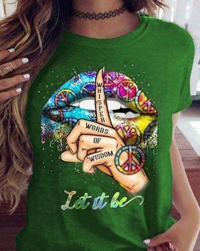 Trendy Casual Short Sleeve Print Shirts & Tops