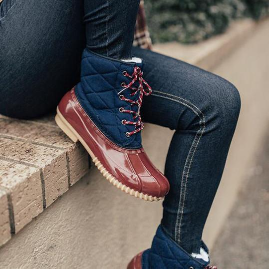 Colouring Round Toe Boots