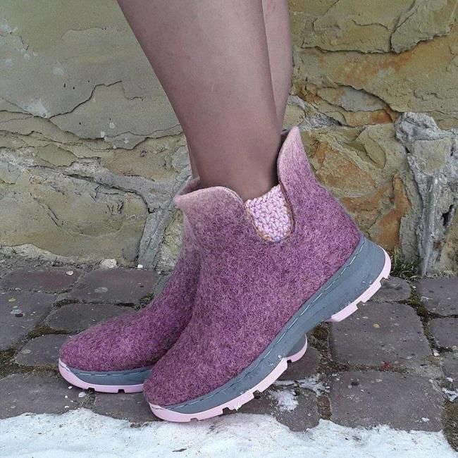 Women Winter Daily Slip-on Ankle Boots