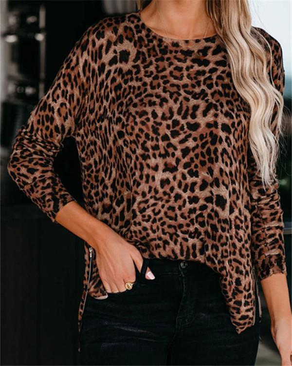 Print Crew Neck Long Sleeves Casual T-shirt