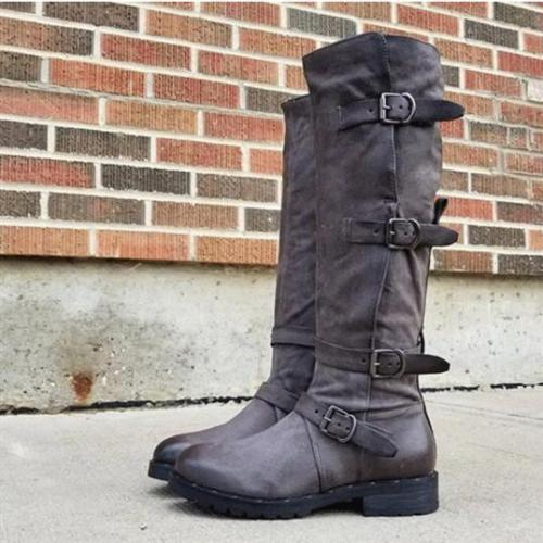 Women Casual Chic Buckle Boots
