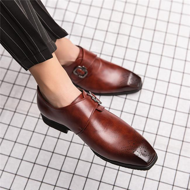 Men's British Style Large Size Faux Leather Shoes