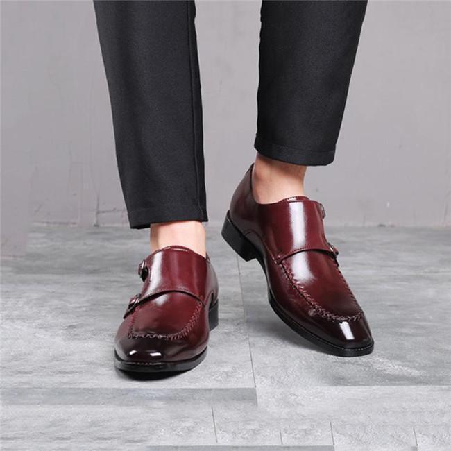 Men's Square Head Monk Shoes