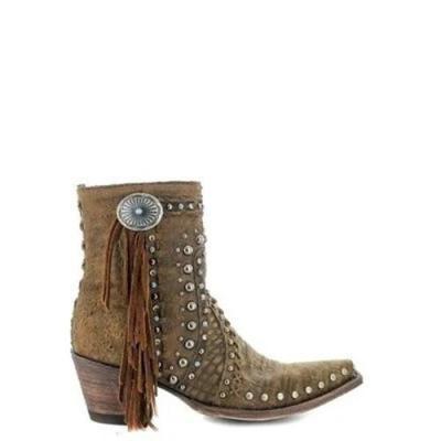 Women Trendy Rivet Tassel Boots