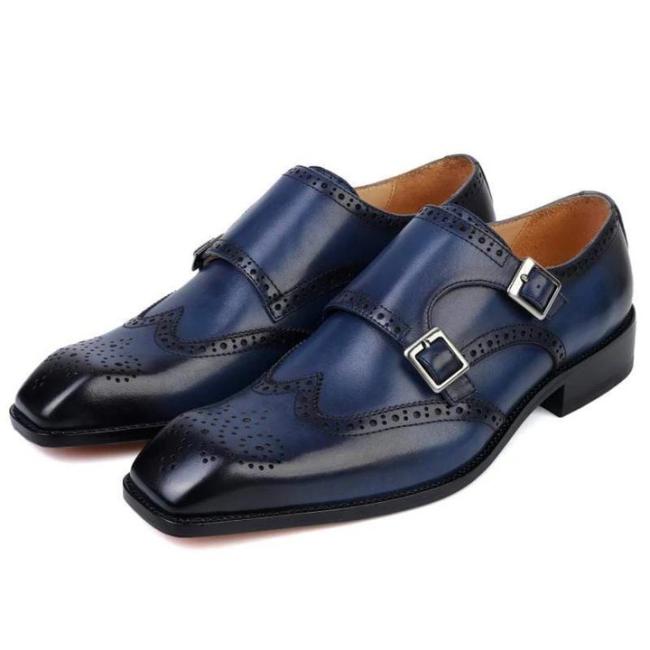 Men's Business Oxford Double Monk Shoes