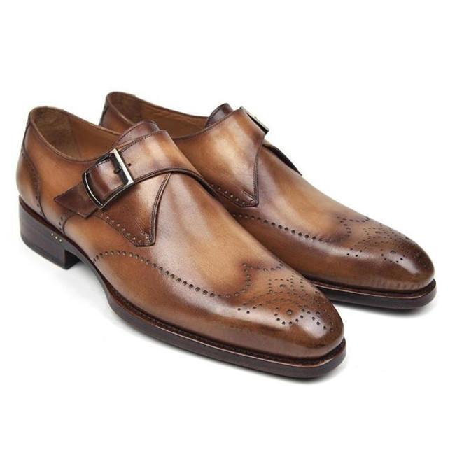 Men's Business Oxford Casual Monk Shoes