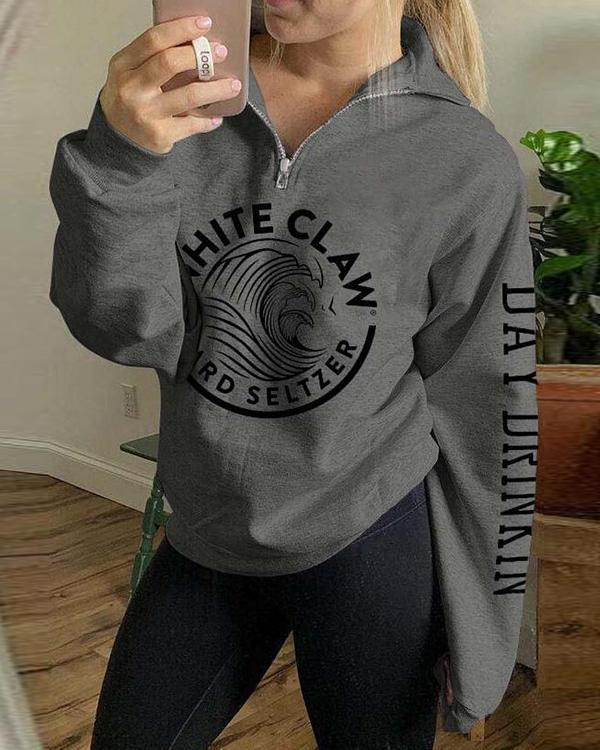 White Claw Hard Seltzer Print Hoodie With Pocket