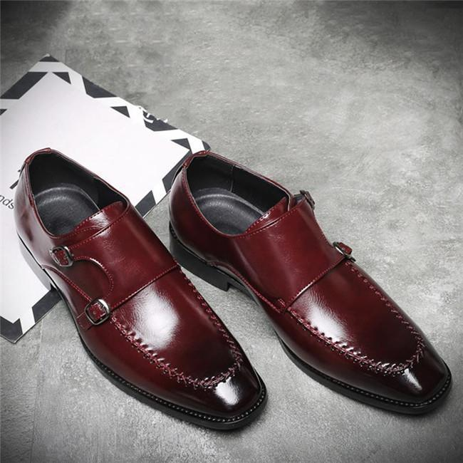 Men's Square Head Monk Shoes