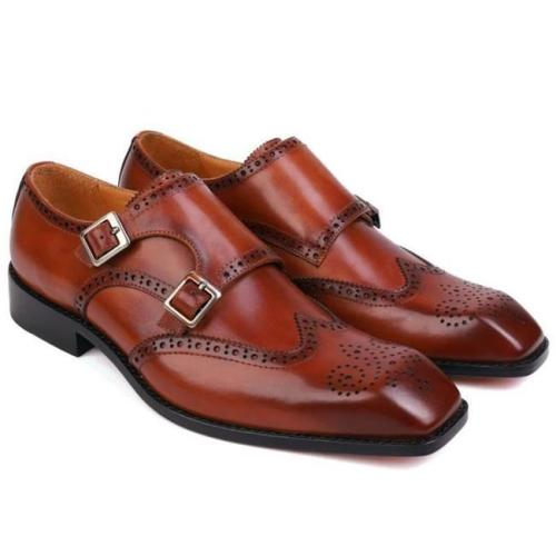 Men's Business Oxford Double Monk Shoes