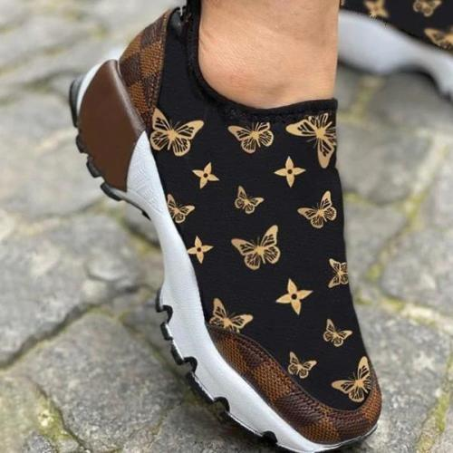 Print Lace-Up Women Sneakers