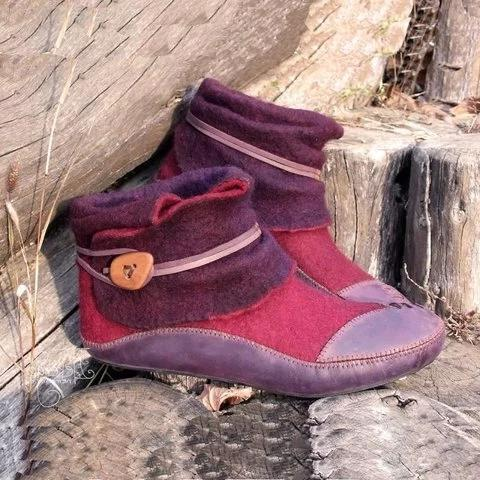 Women Casual Flat Heel Comfy Daily Boots