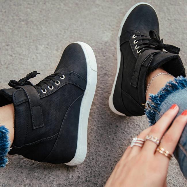 Women's Fashion Plus Velvet Round Shoes