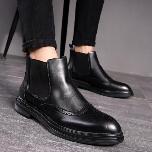 Men's Shoes 2020 Autumn Leather Chelsea Boots