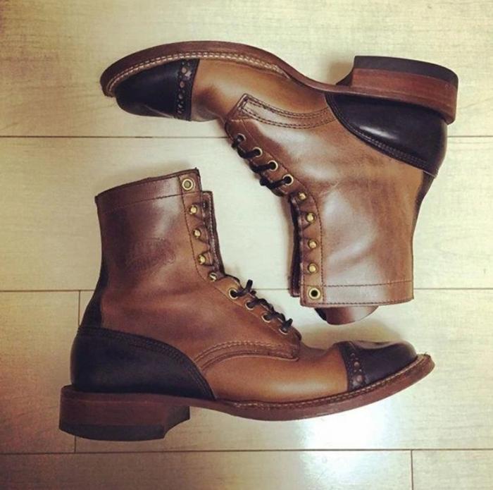 Men's Vintage Leather Mid Martin Boots