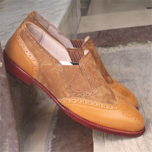 The Wingtip Loafe Pointed Toe Men's Dress Shoes