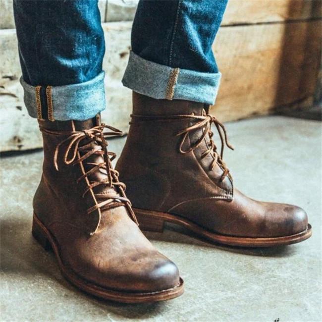 Vintage Goodyear Handmade Genuine Leather Boots