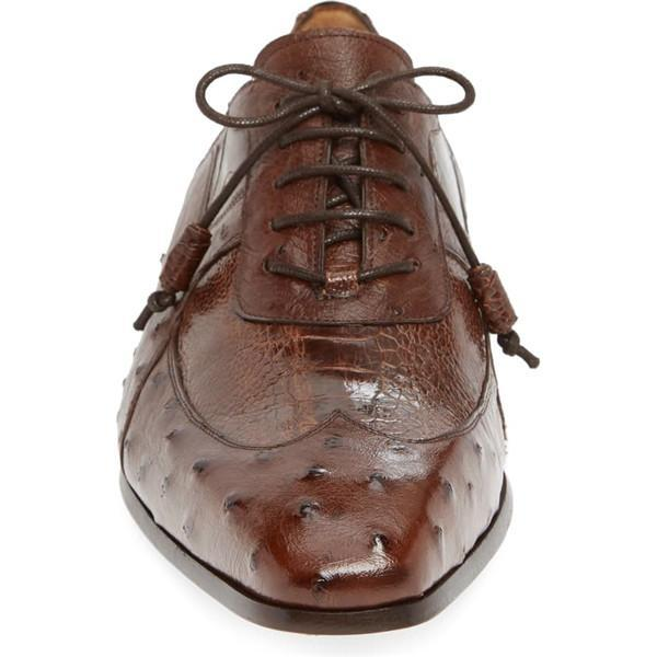 Lace-up Closure Arch Support Pointed Toe Men's Dress Shoes