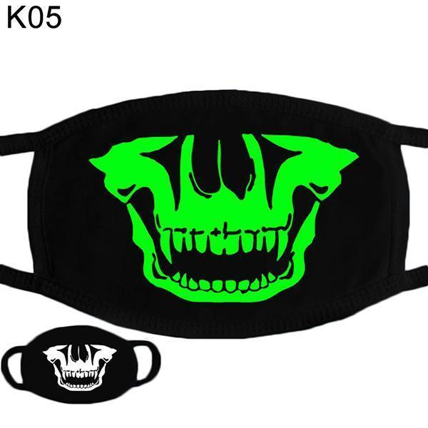 DIY Luminous Accessories Skeleton Mask Cosplay for Adult Hot Halloween