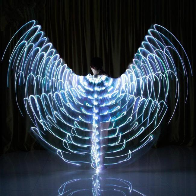 Halloween Rainbow Wings - LED Butterfly Costume