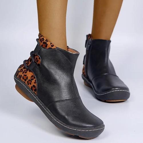 Flat Heel Split Joint Boots