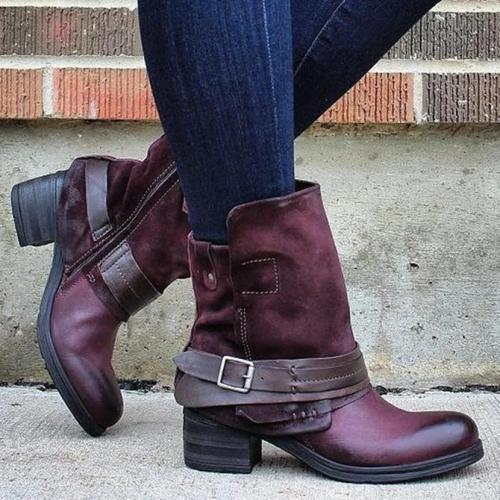 Block Heel Winter Seaside Boots