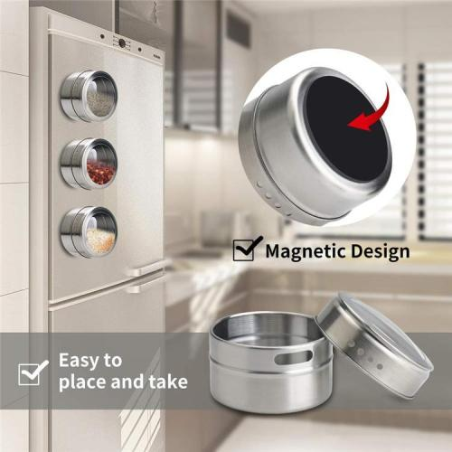Magnetic Spice Tins Organizer ( 6pcs/set )