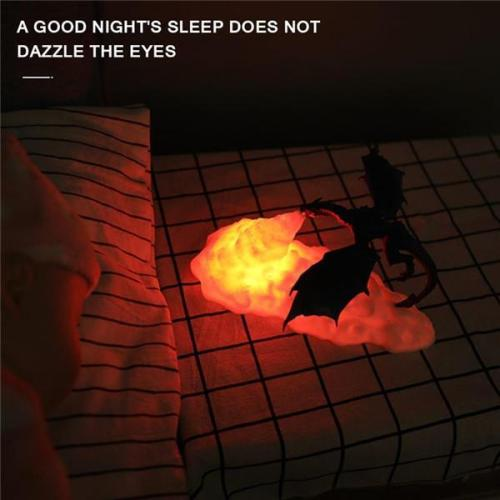 3D Fire-breathing Dragon Night Light