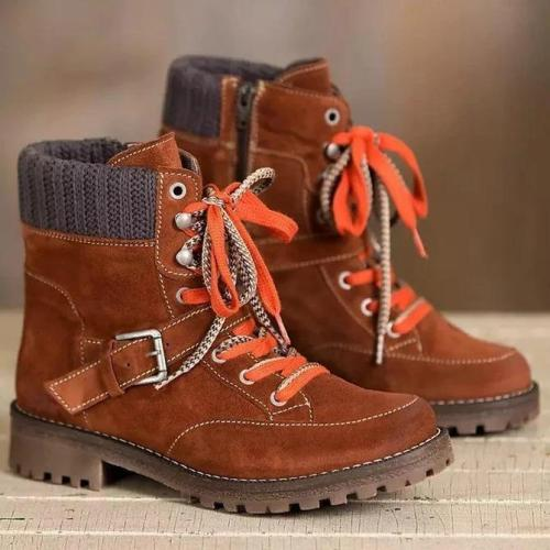 Faux Suede Casual Winter Boots