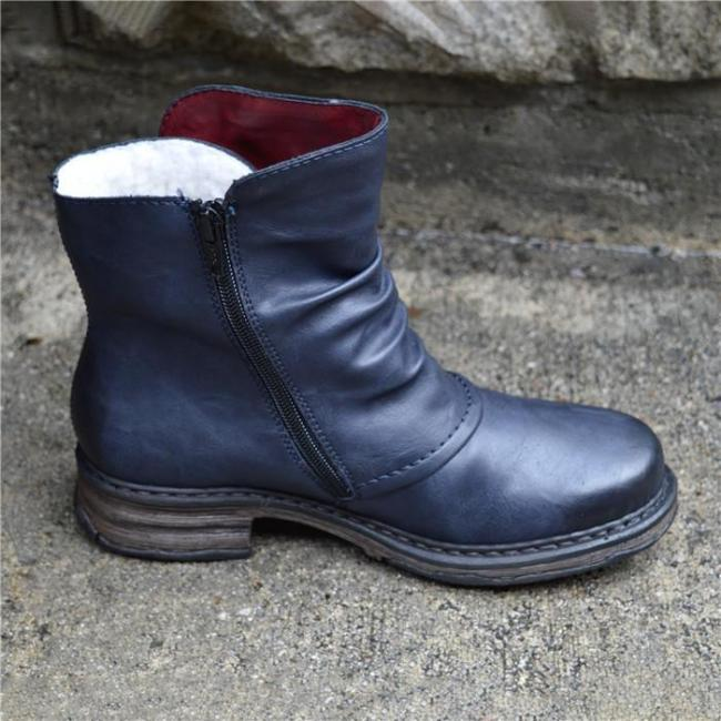 Women's Man-made Uppers with A Real-wool Lining Ankle Bootie