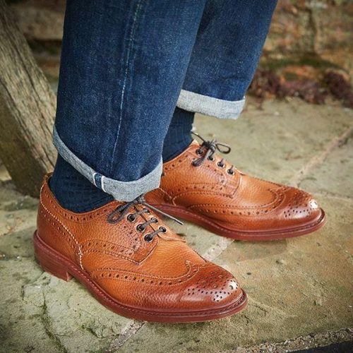 Classic Deeply Grained Leather Country Shoes