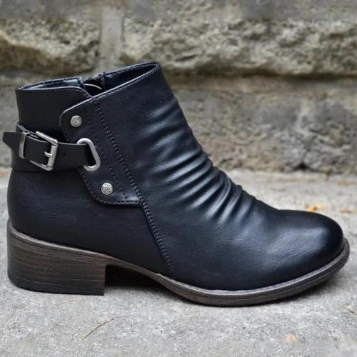 Black Winter Pu Boots