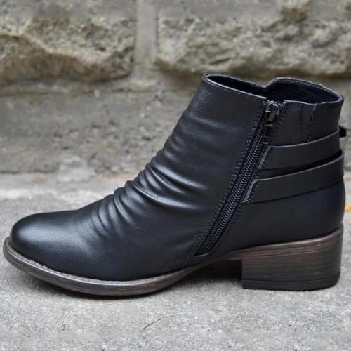 Black Winter Pu Boots