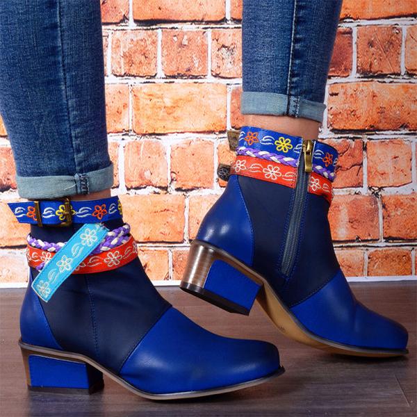 Women's Fashion Low Heel Boots