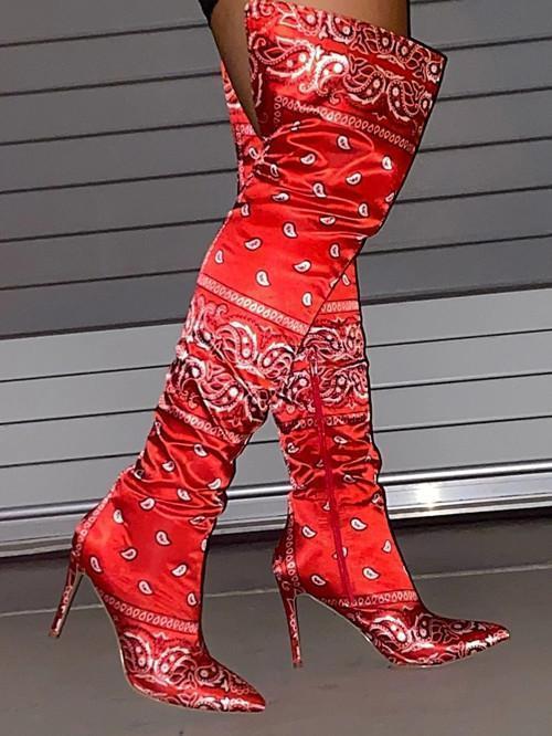 Over Knee High Heel Boots