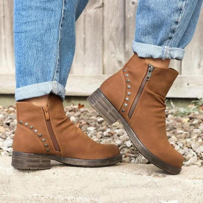 Leather Winter Daily Boots