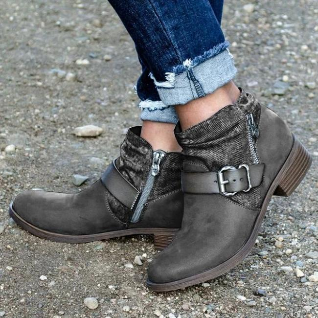 Artificial Leather All Season Split Joint Date Boots