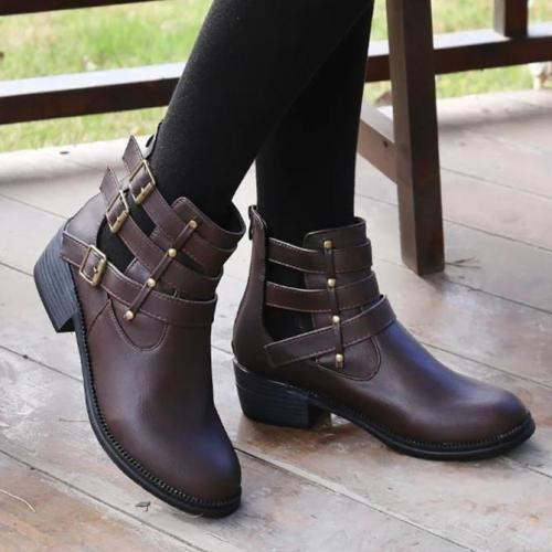 All Season Buckle Party & Evening Block Heel Boots
