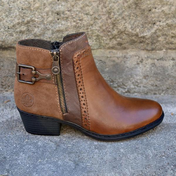 Women's Fashion Low Heel Ankle Boots