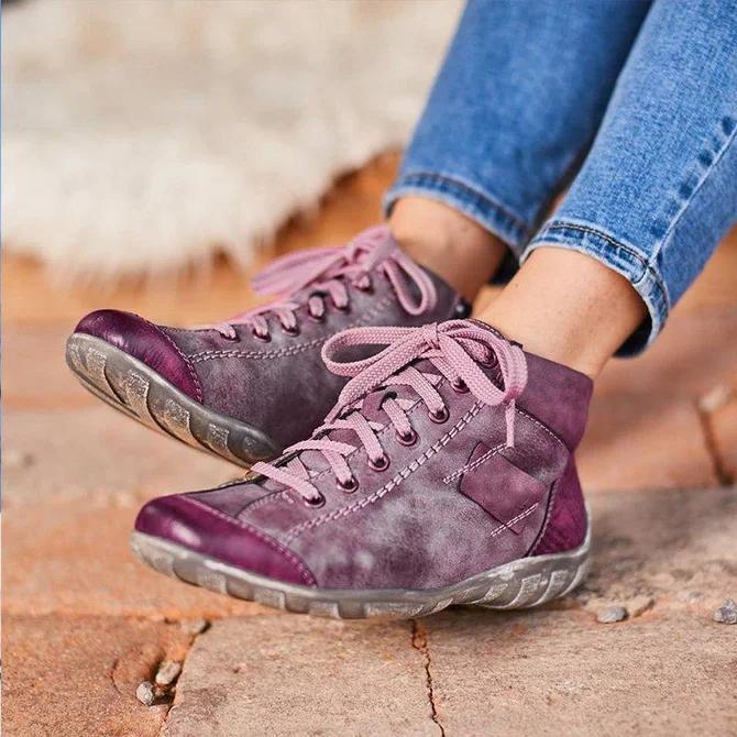 All Season Flat Heel Zipper Boots