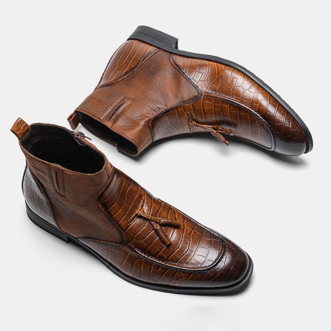 Men Vintage Vogue Comfortable Warm Plush Ankle Boots