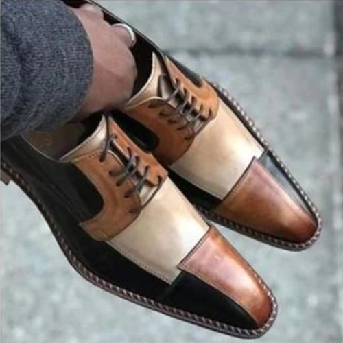 Men'S Leather Patchwork Dress Shoes